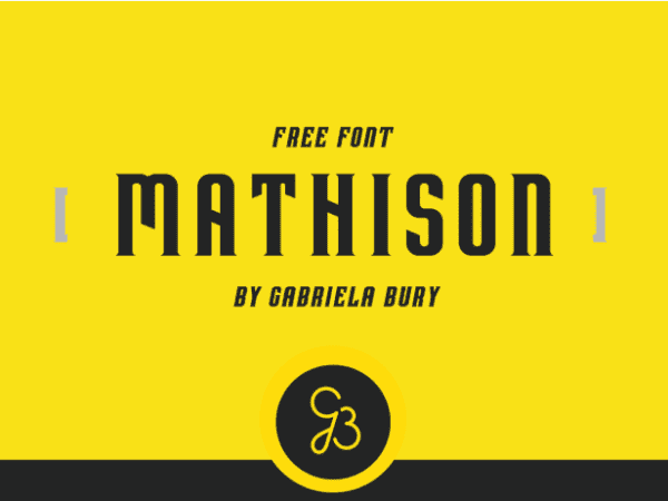 Mathison Free Typefaces