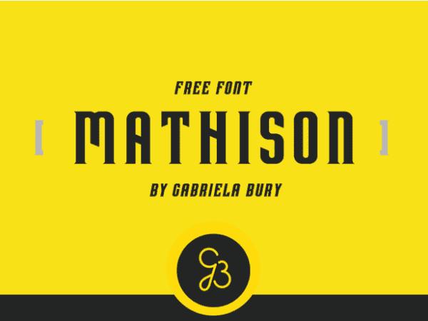 Mathison Free Typefaces
