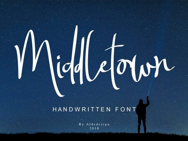 Middletown Free Handwritten Brush Font