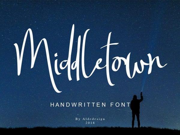 Middletown Free Handwritten Brush Font