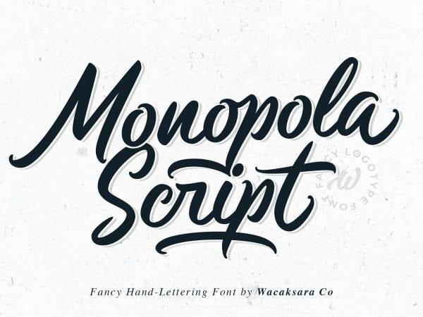 Monopola Casual Script Font