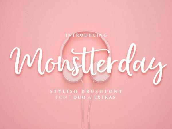 Monstterday Handwritten Brush Script Font