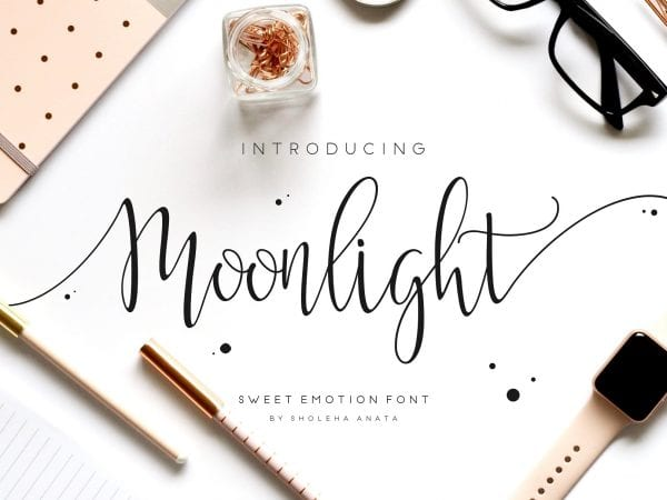 Moonlight Handwritten Script Font