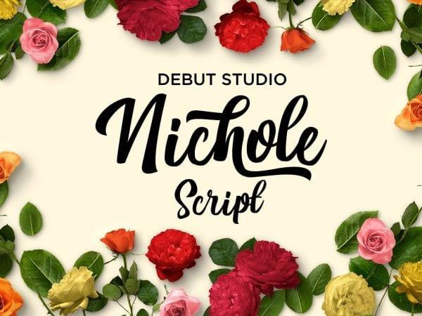 Nichole Beautiful Script Fonts