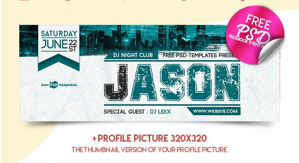 Night Club Facebook Cover Page PSD Template