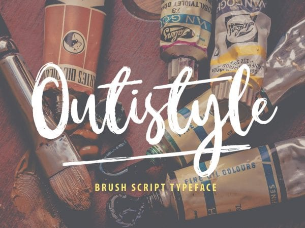 Outistyle Brush Script Typeface