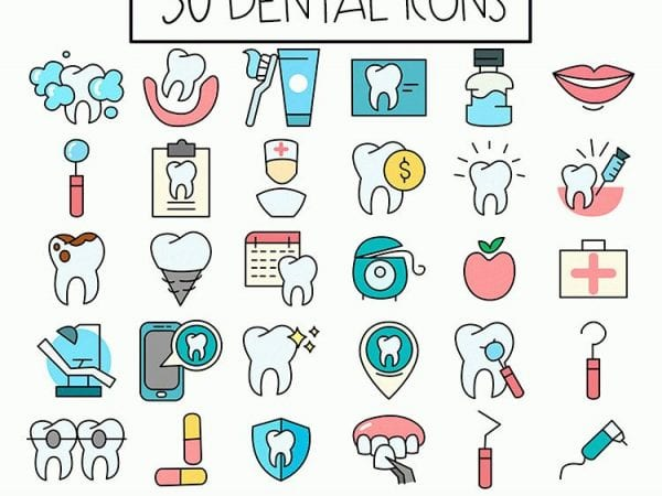 Pack Of 30 Free Dental Icons