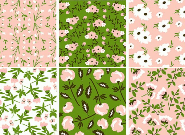 Pack Of Free Floral Pattern