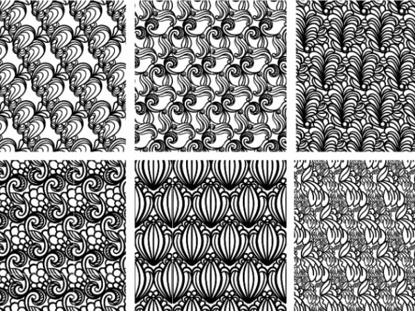 Pack Of Free Seamless Ornament Pattern
