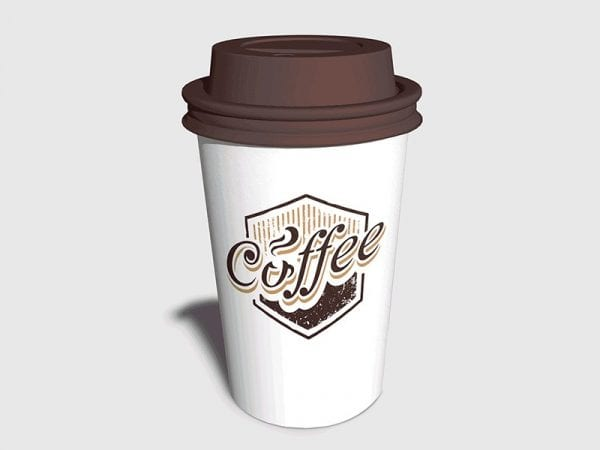 Photo-Realistic Coffee Cup PSD MockUp