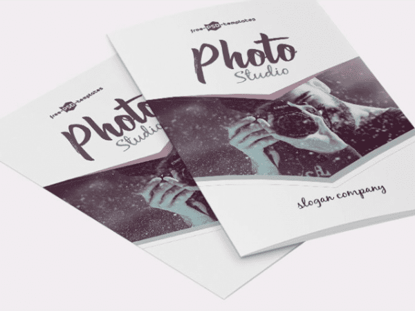 Photo Studio Bifold Brochure PSD Template