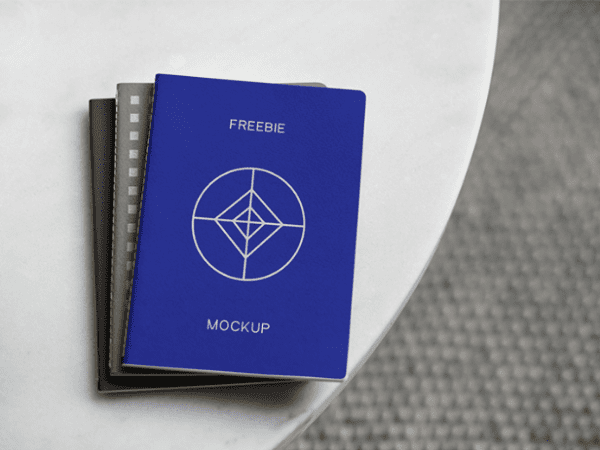 Photo realistic Notebook Mockup PSD Template