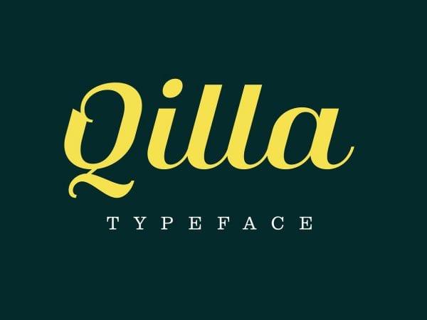Qilla Elegant Script Typeface