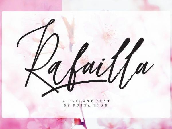 Rafailla Modern Calligraphy Typeface