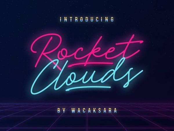 Rocket Clouds Beautiful Script Fonts