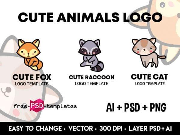 Set Of Free Animal Logo Design