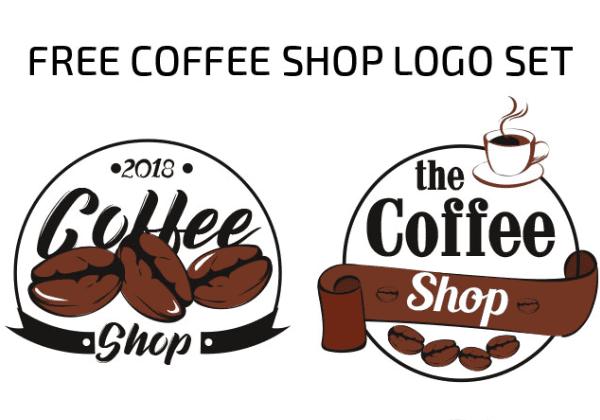 Set Of Free Coffee Shop Logo