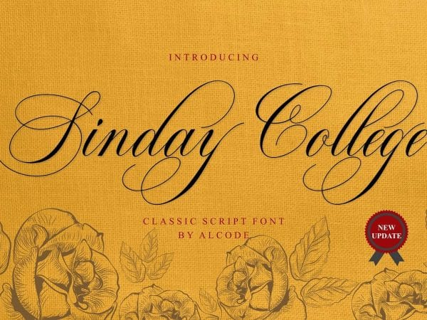 Sinday College Classic Calligraphy Font