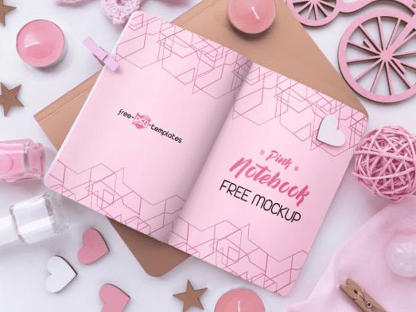Soft Pink Free PSD MockUps