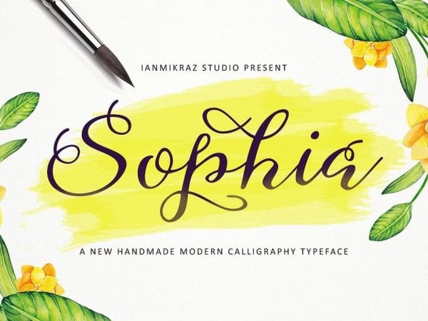 Sophia Handwritten Calligraphy Font