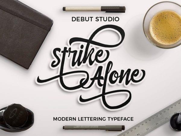 Strike Alone Modern Lettering Typeface