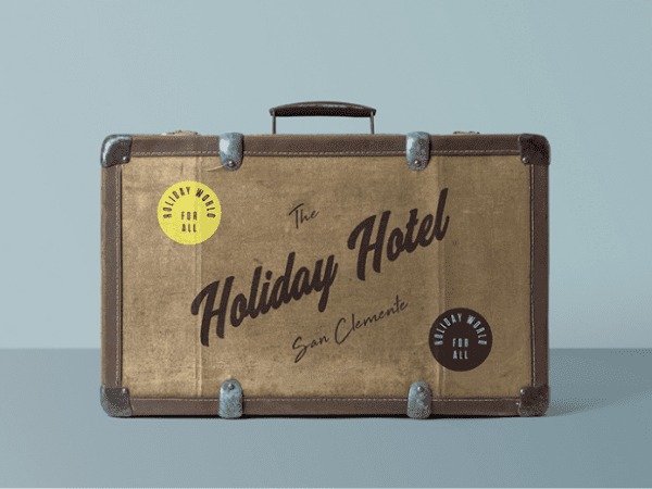 Free Suitcase Mockup PSD Template