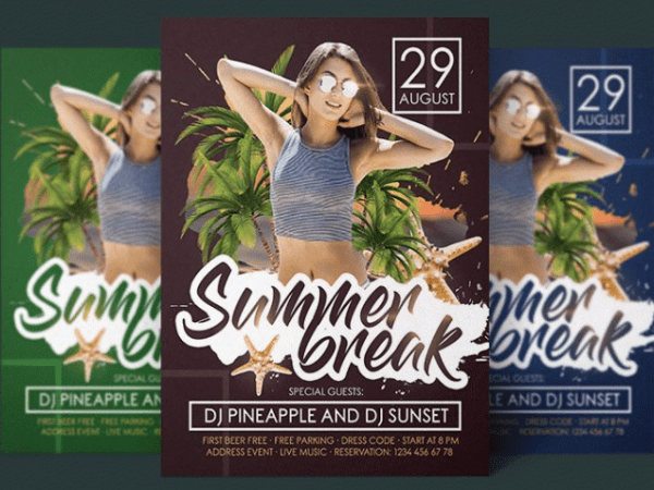 Summer Break Flyer PSD Template