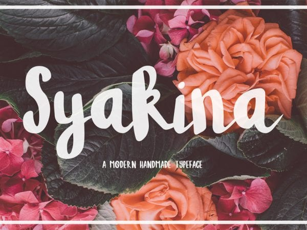 Syakina Free Brush Script Font