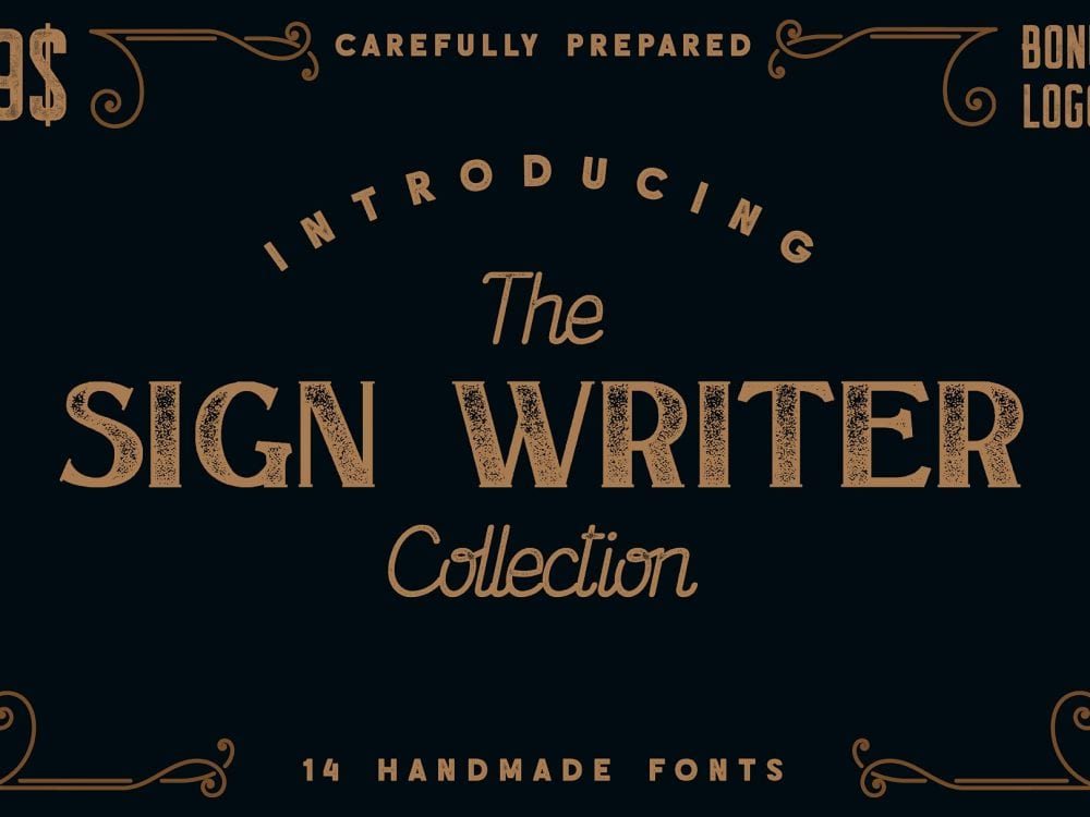 The Sign Writer Vintage Typeface