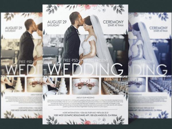 wedding flyer design archives mockup free downloads