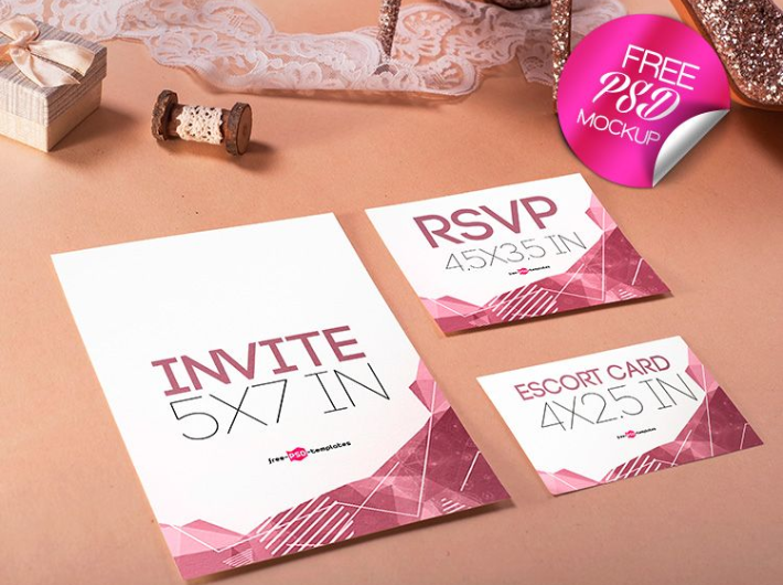 Wedding invitation mockup psd template mockup free downloads wedding invitation mockup psd template stopboris Image collections