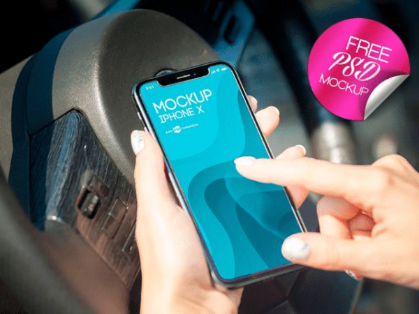 iPhone X PSD Mockup Template