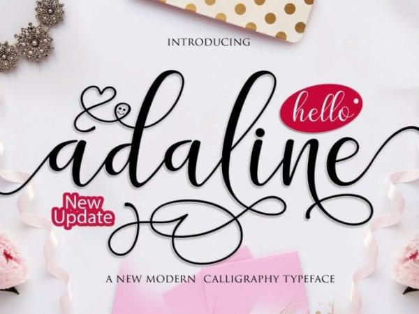 Adaline Modern Calligraphy Typeface