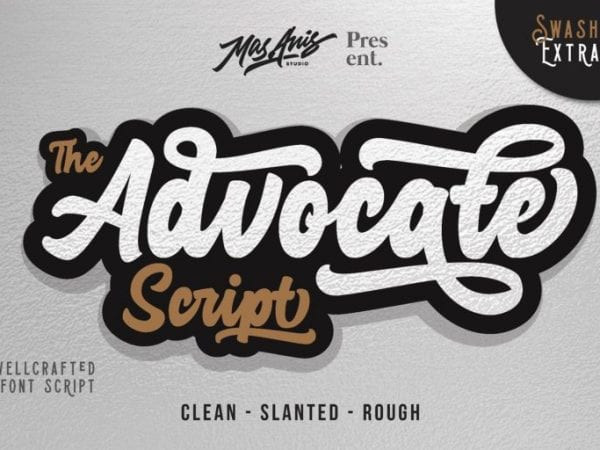 Advocate Free Hand lettering Fonts