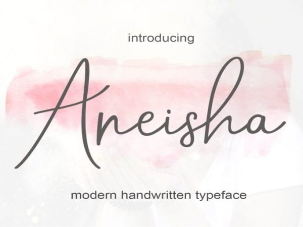 Aneisha Calligraphy Script Font