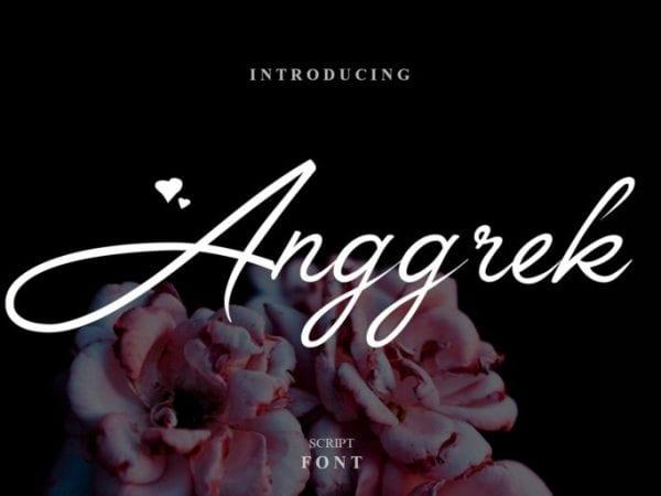 Anggrek Free Calligraphy Script Font