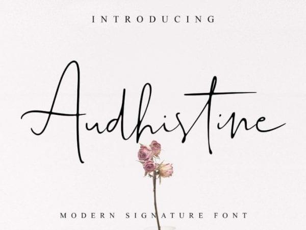 Audhistine Modern Signature Font