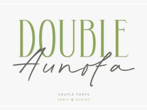 Aunofa Sans Serif Typeface