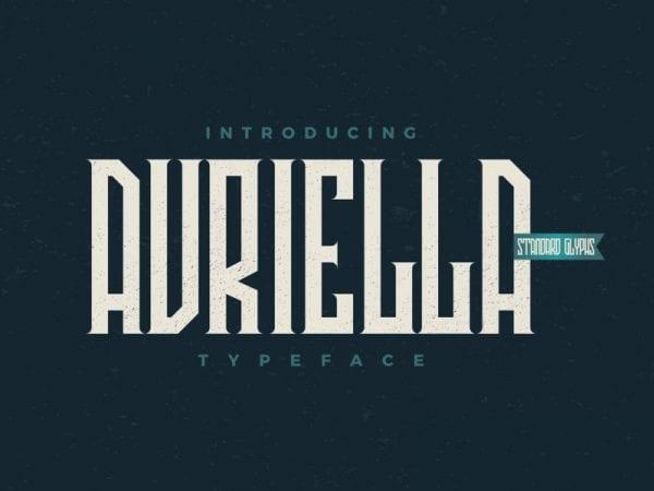 Avriella Free Serif Fonts