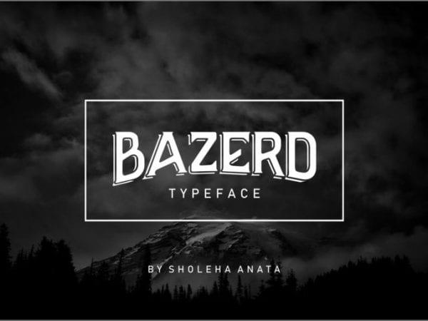 BAZERD Free Unique Fonts