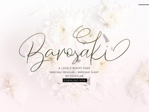 Barosaki Handwritten Script Font