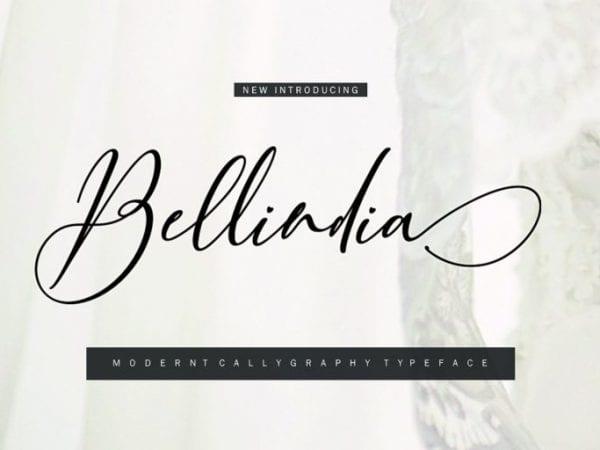 Bellidia Free Calligraphy Script Font