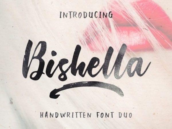 Bishella Hand Brush Font