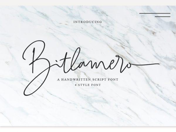 Bitlamero Free Handwritten Script Font