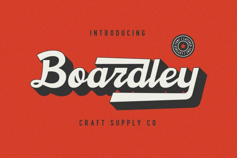 Boardley Script Display Font