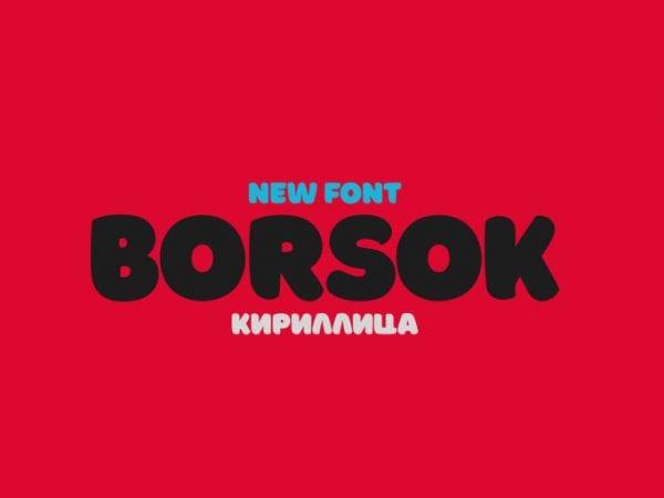 Borsok Free Bold Fonts