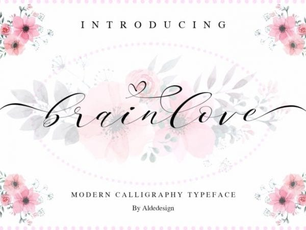 Brainlove Elegant Calligraphy Fonts