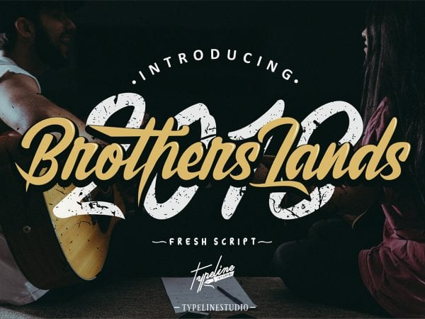 Brother Lands Brush Script Typeface