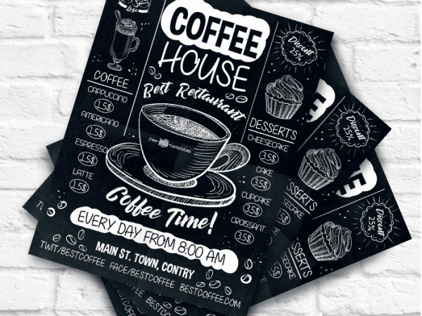 Coffee Flyer PSD Template
