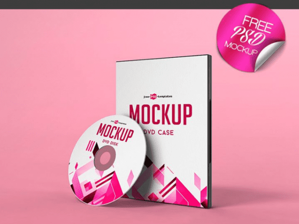 DVD Case MockUp PSD Template